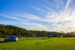Tawharanui regional park. The Tawharanui regional park is the best place to watching sunrise and enjoy family day. The regional park is at the north of Auckland Royalty Free Stock Image