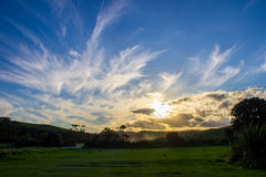 Tawharanui regional park. The Tawharanui regional park is the best place to watching sunrise and enjoy family day. The regional park is at the north of Auckland Stock Photos