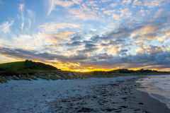 Tawharanui regional park. The Tawharanui regional park is the best place to watching sunrise and enjoy family day. The regional park is at the north of Auckland Royalty Free Stock Photo