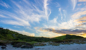 Tawharanui regional park. The Tawharanui regional park is the best place to watching sunrise and enjoy family day. The regional park is at the north of Auckland Royalty Free Stock Images