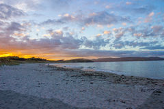 Tawharanui regional park. The Tawharanui regional park is the best place to watching sunrise and enjoy family day. The regional park is at the north of Auckland Royalty Free Stock Photos