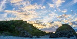 Tawharanui regionalności park Zdjęcia Stock