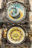 Tawn hall Orloj in Praha, close-up Royalty Free Stock Image