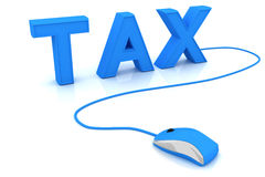 Tax. This is a 3D rendered picture Royalty Free Stock Images
