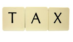 TAX. Button or Key spelling the word Tax Stock Photo