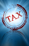 Tax. Old red stamp with tax written on it Royalty Free Stock Photography