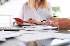Tax accountants working with documents royalty free stock photography