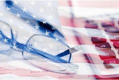 Tax. Accounting Ledger Calculator Financial Advisor Finance Glasses Bill Royalty Free Stock Photos