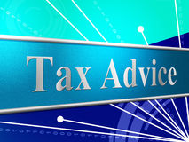 Tax Advice Indicates Help Answer And Excise Royalty Free Stock Photos