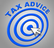 Tax Advice Indicates Info Recommendations And Support Royalty Free Stock Images