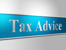 Tax Advice Means Excise Helps And Faq Stock Photography