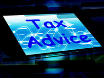 Tax Advice On Phone Shows Tax Help Online Royalty Free Stock Photos