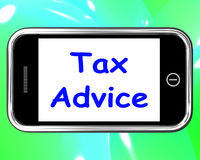 Tax Advice On Phone Shows Taxation Help Online Royalty Free Stock Photo