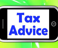 Tax Advice On Phone Shows Taxation Irs Help Stock Photos