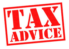 TAX ADVICE Stock Photo