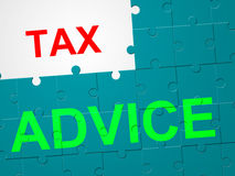 Tax Advice Shows Duties Duty And Taxpayer. Tax Advice Representing Instructions Levy And Taxation Royalty Free Stock Photos