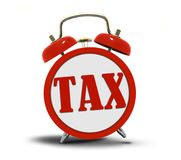 Tax Alert Clock Ringing Stock Images