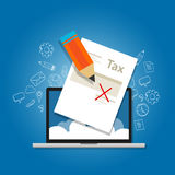 Tax amnesty illustration, government forgive taxation Stock Images