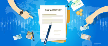 Tax amnesty illustration, government forgive taxation Royalty Free Stock Photos