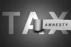Tax amnesty quotes Royalty Free Stock Photos