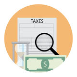Tax analysis icon Royalty Free Stock Photography