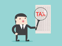 TAX analysis magnify financial focus Royalty Free Stock Photo
