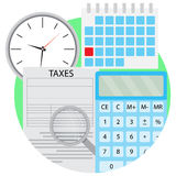 Tax analysis vector icon Royalty Free Stock Image