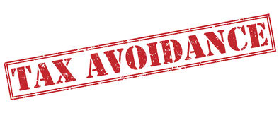 Tax avoidance red stamp Stock Photography