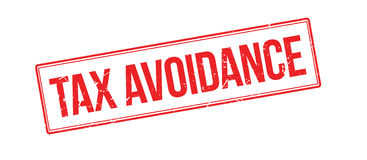 Tax avoidance rubber stamp Stock Photo