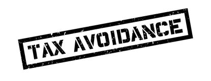Tax avoidance rubber stamp Stock Image