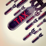 Tax bomb Royalty Free Stock Images