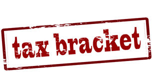 Tax bracket. Stamp with text tax bracket inside,  illustration Stock Photography