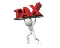 Tax burden. 3d hq image: Tax burden Royalty Free Stock Photo