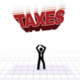 Tax burden concept Stock Image