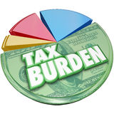 Tax Burden Money Owed Government Pie Chart Payment Royalty Free Stock Photography