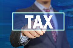 TAX, Motivational Business Words Quotes Concept royalty free stock photo