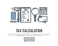Tax calculating Royalty Free Stock Images