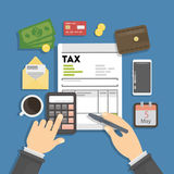 Tax calculating concept. Stock Images