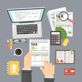 Tax calculating concept. Royalty Free Stock Image