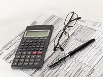 Tax calculation. Stock Images