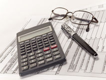 Tax calculation. Royalty Free Stock Photos