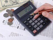 Tax calculation Stock Photos