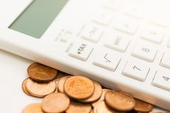 Tax calculation every year everyone,. Tax calculation every year everyone. have coin beside to calculator Stock Photos