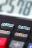 Tax calculator Royalty Free Stock Photography