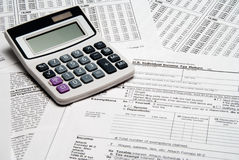 Free Tax Calculator Royalty Free Stock Photography - 8028477