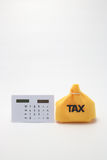 Tax and calculator Royalty Free Stock Photography