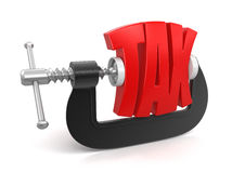 Tax in clamp (clipping path included) Stock Photo