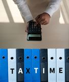 Tax Concept Business analyzing Individual income tax return form. Concept stock images