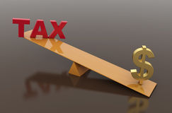 Tax Concept with Dollar symbol. 3D Rendered Image Royalty Free Stock Images