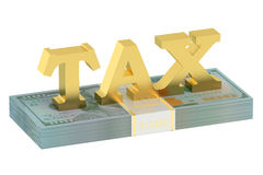 Tax concept with dollars Royalty Free Stock Photo